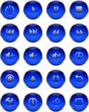 πολυμέσα κουμπιών Στοκ Φωτογραφία