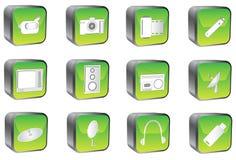 πολυμέσα κουμπιών διανυσματική απεικόνιση