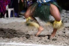 Πολυνησιακή επίδραση κίνησης hula χορευτών Στοκ Εικόνες