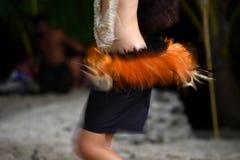 Πολυνησιακή επίδραση κίνησης hula χορευτών Στοκ Εικόνα