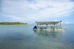 Πολυνησιακή πρόσδεση βαρκών στη λιμνοθάλασσα Muri στις νήσους Rarotonga Κουκ Στοκ εικόνα με δικαίωμα ελεύθερης χρήσης