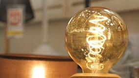 Πολυτέλειας όμορφο αναδρομικό ντεκόρ λαμπτήρων του Edison ελαφρύ απόθεμα βίντεο