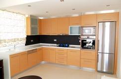 πολυτέλεια κουζινών ξενοδοχείων διαμερισμάτων Στοκ Εικόνα