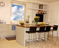 πολυτέλεια κουζινών Στοκ φωτογραφίες με δικαίωμα ελεύθερης χρήσης