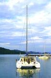 Πολυτέλεια yatch στο νησί Langkawi Στοκ φωτογραφίες με δικαίωμα ελεύθερης χρήσης