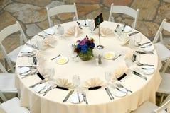 πολυτελής θέτοντας επιτραπέζιος γάμος λήψης Στοκ Φωτογραφία
