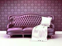 Πολυτελής καναπές δέρματος Στοκ Εικόνα
