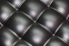 Πολυτελής μαύρη κουμπωμένη σύσταση δέρματος r στοκ φωτογραφία με δικαίωμα ελεύθερης χρήσης