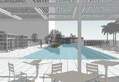 Πολυτελής πισίνα Στοκ Φωτογραφία