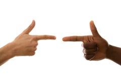 πολυφυλετική υπόδειξη χεριών στοκ φωτογραφία με δικαίωμα ελεύθερης χρήσης