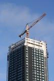πολυόροφο κτίριο κατασκευής στοκ εικόνα με δικαίωμα ελεύθερης χρήσης