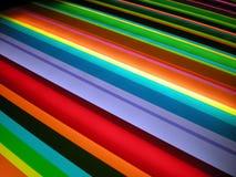 Πολυ ανασκόπηση προτύπων λωρίδων χρώματος Στοκ Φωτογραφία