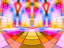 πολυ δωμάτιο μωσαϊκών χρώματος απεικόνιση αποθεμάτων
