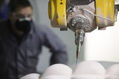 πολυ εργαζόμενος μηχανώ&nu Στοκ Εικόνα