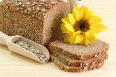 πολυ ηλίανθος σπόρων σιταριού ψωμιού Στοκ Εικόνα