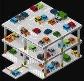 Πολυ υπαίθριος σταθμός αυτοκινήτων ορόφων Στοκ εικόνες με δικαίωμα ελεύθερης χρήσης