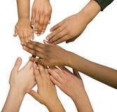 πολυ φυλετικός χεριών Στοκ Εικόνα