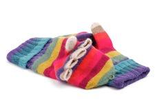 Πολυ χρωματισμένα γάντια με τα δάχτυλα Στοκ εικόνα με δικαίωμα ελεύθερης χρήσης