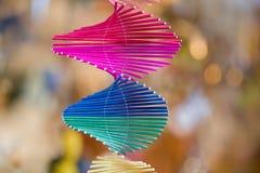 Πολυ χρωματισμένη σπείρα Στοκ φωτογραφία με δικαίωμα ελεύθερης χρήσης