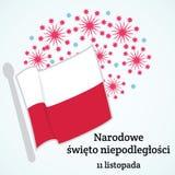 Πολωνία ανεξαρτησία ημέρας ανασκόπησης grunge αναδρομική Διανυσματική απεικόνιση της σημαίας της Πολωνίας Στοκ Φωτογραφίες