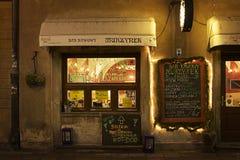 Πολωνία: Πολωνικό γρήγορο φαγητό στη Βαρσοβία Στοκ εικόνα με δικαίωμα ελεύθερης χρήσης