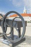 Πολωνία, Malopolska, Oswiecim, τετράγωνο αγοράς στοκ εικόνα
