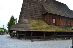 Πολωνία, Wisla Mala, catolic ναός, ξύλινη εκκλησία, τουρισμός, padre, θρησκεία στοκ εικόνες