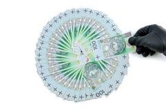 Πολωνικά 100 zloty τραπεζογραμμάτια κλεφτών αποταμίευσης Στοκ Εικόνες