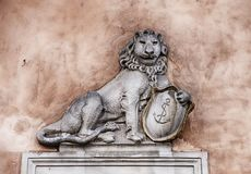 Πολωνικές λιοντάρι και ασπίδα Στοκ φωτογραφία με δικαίωμα ελεύθερης χρήσης
