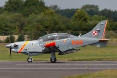 Πολωνική Πολεμική Αεροπορία PZL-Okecie pzl-130 TC-1 turboprop Orlik, ενιαία μηχανή, δύο αεροσκάφη εκπαιδευτών καθισμάτων Στοκ Εικόνα