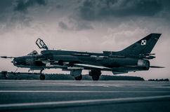 ΠΟΛΩΝΙΚΗ ΠΟΛΕΜΙΚΗ ΑΕΡΟΠΟΡΙΑ SUKHOI SU-22 Στοκ φωτογραφίες με δικαίωμα ελεύθερης χρήσης