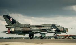 ΠΟΛΩΝΙΚΗ ΠΟΛΕΜΙΚΗ ΑΕΡΟΠΟΡΙΑ SUKHOI SU-22 Στοκ Εικόνες
