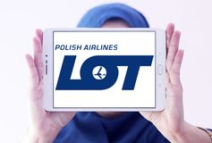 Πολωνικό λογότυπο αερογραμμών ΜΕΡΩΝ Στοκ Εικόνα