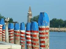 Πολωνοί για να δέσει τη βάρκα Στοκ Εικόνες