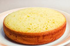 Πολύβλαστο και ψηλό κλασικό κέικ μπισκότων, κατάλυμα για ένα κέικ πίτα, σπίτι στοκ εικόνες