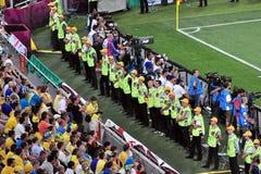 Πολύς διαχειριστής που στέκεται κατά μήκος του πεδίου Στοκ εικόνες με δικαίωμα ελεύθερης χρήσης