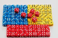 Πολύς ζωηρόχρωμος χωρίζει σε τετράγωνα παρουσιασμένος ελαφρύ σε έναν ορθογώνιο Στοκ φωτογραφία με δικαίωμα ελεύθερης χρήσης