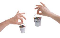 Πολύτιμοι λίθοι λαβής χεριών Στοκ Φωτογραφίες