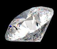 Πολύτιμος πολύτιμος λίθος: μεγάλο διαμάντι πέρα από το Μαύρο Στοκ Εικόνες