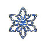 Πολύτιμο κομψό snowflake που απομονώνεται στο άσπρο υπόβαθρο Εορταστικό στοιχείο Χριστουγέννων στο δικτυωτό ύφος κοσμήματος τρισδ απεικόνιση αποθεμάτων