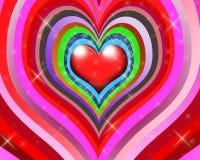 πολύχρωμα αστέρια καρδιών Στοκ φωτογραφία με δικαίωμα ελεύθερης χρήσης