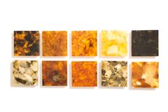 Πολύχρωμα ηλέκτρινα κομμάτια Στοκ εικόνες με δικαίωμα ελεύθερης χρήσης