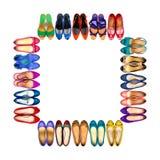 Πολύχρωμα θηλυκά παπούτσια πλαίσιο-3 Στοκ Εικόνες