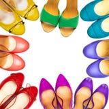 Πολύχρωμα θηλυκά παπούτσια πλαίσιο-4 Στοκ φωτογραφία με δικαίωμα ελεύθερης χρήσης