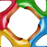 Πολύχρωμα θηλυκά παπούτσια Στοκ Φωτογραφία