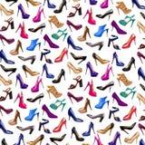 Πολύχρωμα θηλυκά παπούτσια Στοκ Εικόνες