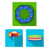 Πολύχρωμα κολυμπώντας επίπεδα εικονίδια κύκλων στην καθορισμένη συλλογή για το σχέδιο Διαφορετικός Ιστός αποθεμάτων συμβόλων life Στοκ φωτογραφία με δικαίωμα ελεύθερης χρήσης