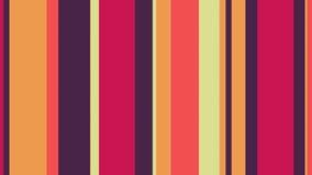 Πολύχρωμα λωρίδες 50 του //4k 60fps θερμός βρόχος υποβάθρου χρωματισμένων φραγμών τηλεοπτικός ελεύθερη απεικόνιση δικαιώματος