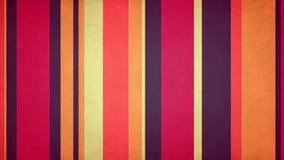 Πολύχρωμα λωρίδες 50 Paperlike του //4k 60fps θερμός χρωματισμένος βρώμικος βρόχος υποβάθρου φραγμών τηλεοπτικός διανυσματική απεικόνιση
