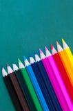 πολύχρωμα μολύβια κραγιονιών Στοκ φωτογραφία με δικαίωμα ελεύθερης χρήσης